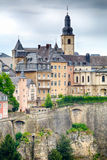 Buildings on a Hill in Luxembourg City Stock Photos