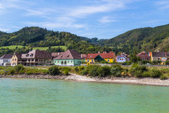 Buildings and Hills in the Wachau Valley, Austria Royalty Free Stock Images