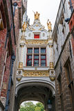 Buildings from historic center of Bruges, Belgium Stock Photography