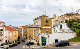 Buildings in the historic center of Lisbon Stock Image