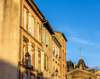 Buildings in the historic center of Luneville - France Royalty Free Stock Photography
