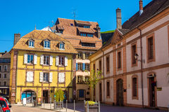 Buildings in the historic centre of Belfort Stock Photos