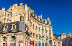 Buildings in the historic centre of Bordeaux, France Royalty Free Stock Images