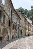 Buildings in historic centre of Ljubljana, Slovenia Stock Image