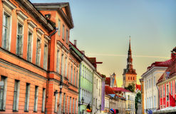 Buildings in the historic centre of Tallinn Royalty Free Stock Image