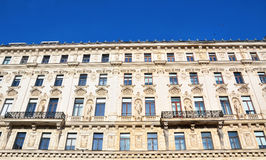 Buildings historic houses in Vienna, Stock Image