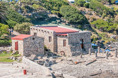 Buildings at the historical old harbour museum in Hermanus Royalty Free Stock Photo