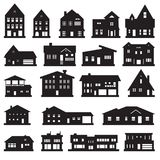 Buildings, home and house icon set. Vector icons. Eps10 Stock Image