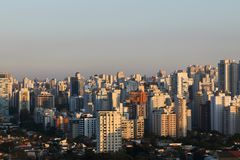 Buildings and homes, Sao Paulo Royalty Free Stock Photos