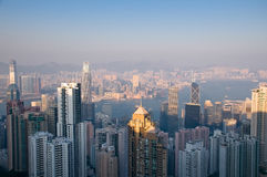 Buildings in Hong Kong Stock Photography