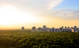 Buildings on the horizon in Moscow Stock Photos