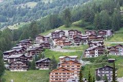 The buildings of hotels in Zermat. July 8, 2013 Mr. Zermatt, Switzerland Royalty Free Stock Image