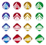 Buildings and house icon Royalty Free Stock Photography