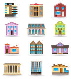 Buildings and houses Royalty Free Stock Photo