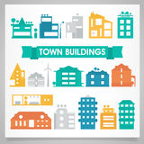 Buildings and houses collection Stock Photo
