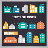 Buildings and houses collection Stock Photography