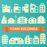 Buildings and houses collection Royalty Free Stock Photos