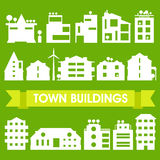 Buildings and houses collection Stock Photos