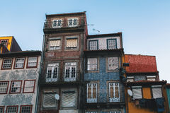 Buildings of houses in old Porto Royalty Free Stock Images