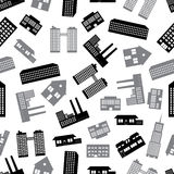 Buildings and houses pattern eps10 Stock Image