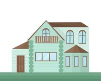 Buildings houses village architecture. Modern flat style vector illustrations Stock Photography