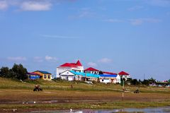 Buildings on Hulunbeier Grassland Stock Images