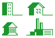 Buildings - Icon Set Stock Images