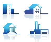 Buildings - Icon Set Royalty Free Stock Images