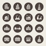 Buildings icon set Stock Image