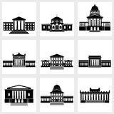 Buildings Icons Stock Photos