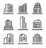 Buildings icons Stock Images