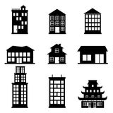 Buildings icons. Over white background vector illustration Stock Image