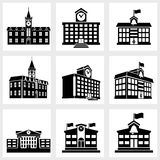 Buildings icons Royalty Free Stock Images