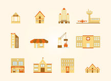 Buildings icons set. Buildings in the city icons set, EPS10 Vector Stock Photography