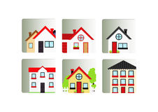 Buildings icons set Royalty Free Stock Photography