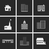 Buildings Icons. Set of icons on a theme buidings Stock Photos