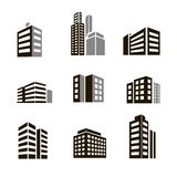 Buildings icons Royalty Free Stock Photo