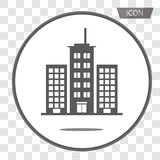 Buildings icons vector isolated on background Royalty Free Stock Photo