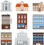 Buildings icons  vector on white Royalty Free Stock Photos