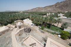 Buildings in Iman. Building situated in desert country Oman near the capital city Muscat royalty free stock photos