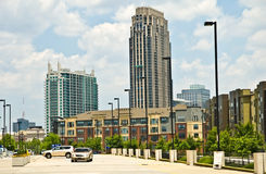 Buildings In Downtown Area Royalty Free Stock Photography