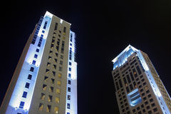 Buildings In Dubai At Night Royalty Free Stock Images