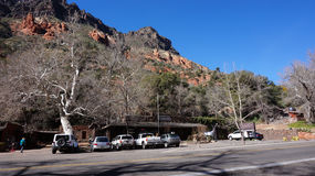 The buildings of Indian Gardens in  Sedona, Arizona. Stock Photo