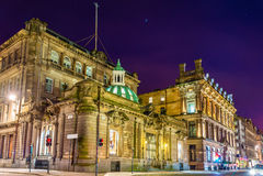 Buildings on Ingram Street in Glasgow Royalty Free Stock Image
