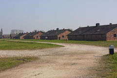 Birkenau camps dormitory Stock Images