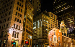 Buildings at the intersection of State Street and Congress Stree Stock Photos