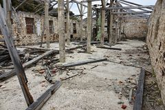 Buildings on the island of Goli otok Stock Image