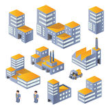 Buildings in the isometric Stock Images