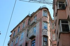 Buildings of Istanbul stock image