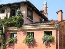 Buildings in Italy. Buildings in an Italian Town royalty free stock image